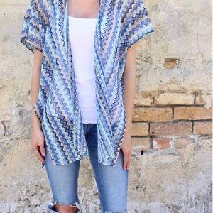 🆕 Zigzag Open Weave Kimono